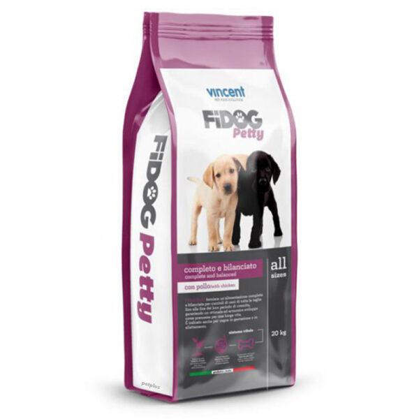 """מזון כלבים וינסנט פידוג גורים על בסיס עוף ובקר 20 ק""""ג-0"""