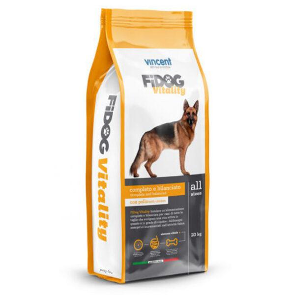 "מזון כלבים וינסנט פידוג ויטליטי 20 ק""ג-0"