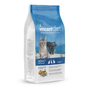 """מזון לחתולים וינסנט דיאט דגים כחולים 15 ק""""ג-0"""