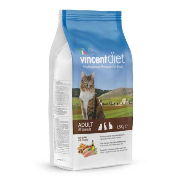 "מזון לחתולים וינסנט דיאט עוף 15 ק""ג-0"