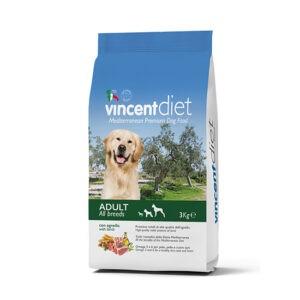 """מזון כלבים וינסנט דיאט טלה 3 ק""""ג-0"""