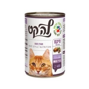 שימורי לה קט לחתול בטעם מיקס עוף וכבד 400 גרם-0