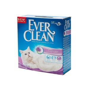 חול לחתולים אבר קלין מתגבש - סגול לבנדר 10 ליטר-0