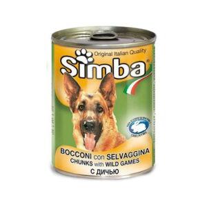 סימבה שימורי בשר ציד לכלב 415 גרם-0