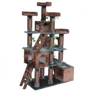 מתקן גירוד עץ שעשועים לחתול-0
