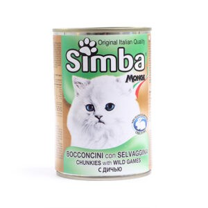 שימורי סימבה נתחי בשר צייד לחתול 415 גרם-0