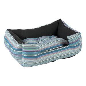 מיטה לכלב פטס-פרוג'קט מידה l צבע כחול פסים-0