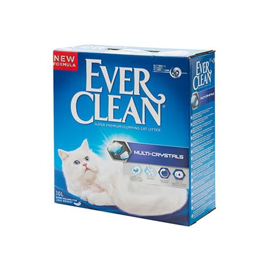 חול לחתולים אבר קלין מתגבש - מולטי קריסטל 6 ליטר-0