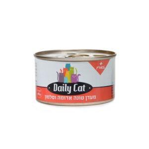 מעדן דיילי קט לחתול בטעם טונה אדומה וסלמון 85 גרם-0