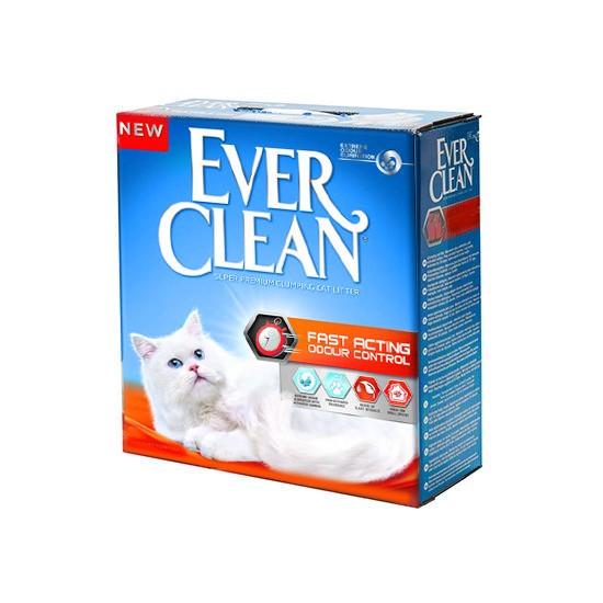חול לחתולים אבר קלין מתגבש - מנטרל ריחות מהיר 6 ליטר-0