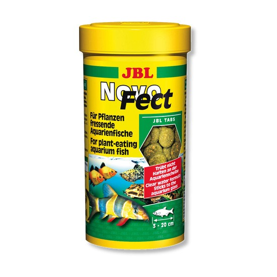 """מזון לדגים טבליות צמחיות לשוכני קרקעית jbl נובו פקט 250 מ""""ל-0"""