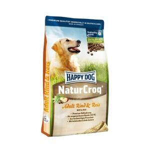"""מזון לכלבים הפי דוג נֶייצֶ'ר קְרוֹק בקר ואורז 15 ק""""ג-0"""