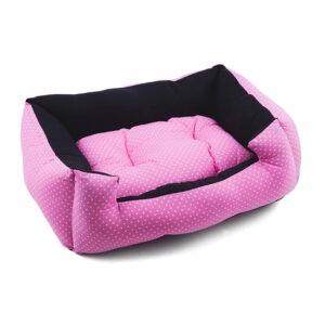 מיטה לכלב פטס-פרוג'קט מידה l צבע ורוד נקודות-0