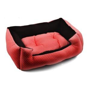 מיטה לכלב פטס-פרוג'קט מידה l צבע אדום נקודות-0