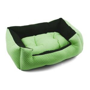 מיטה לכלב פטס-פרוג'קט מידה l צבע ירוק נקודות-0