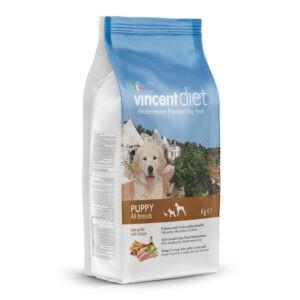 """מזון כלבים וינסנט דיאט גורים 15 ק""""ג-0"""