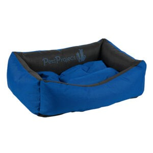 מיטה לכלב דוחת מים פטס-פרוג'קט מידה xl צבע כחול עם שחור-0