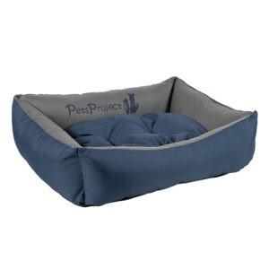 מיטה לכלב דוחת מים פטס-פרוג'קט מידה m צבע כחול עם אפור-0