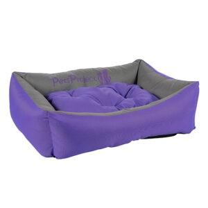 מיטה לכלב דוחת מים פטס-פרוג'קט מידה l צבע סגול עם אפור-0