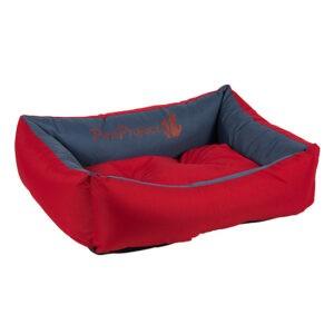 מיטה לכלב דוחת מים פטס-פרוג'קט מידה m צבע אדום עם כחול-0