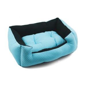 מיטה לכלב פטס-פרוג'קט מידה m צבע תכלת נקודות-0