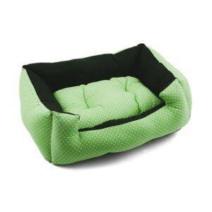 מיטה לכלב פטס-פרוג'קט מידה xl צבע ירוק נקודות-0