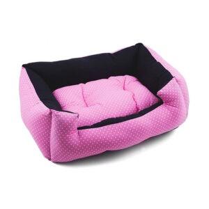 מיטה לכלב פטס-פרוג'קט מידה m צבע ורוד נקודות-0