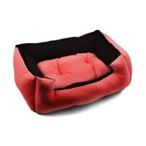 מיטה לכלב פטס-פרוג'קט מידה m צבע אדום נקודות-0