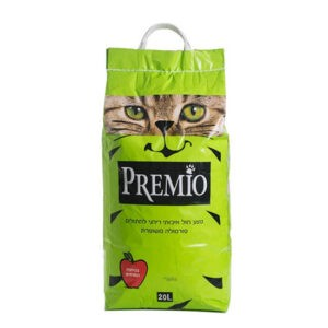 חול לחתולים פרמיו חיתולי - תפוח 20 ליטר-0