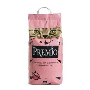 חול לחתולים פרמיו חיתולי - נטורל 20 ליטר-0