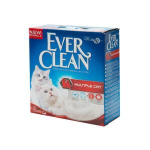 חול לחתולים אבר קלין מתגבש - אדום מולטיפל קט 6 ליטר-0