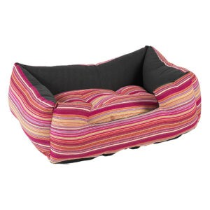 מיטה לכלב פטס-פרוג'קט מידה m צבע ורוד פסים-0