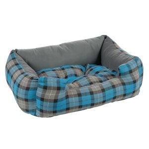 מיטה לכלב פטס-פרוג'קט מידה l צבע כחול רבועים-0