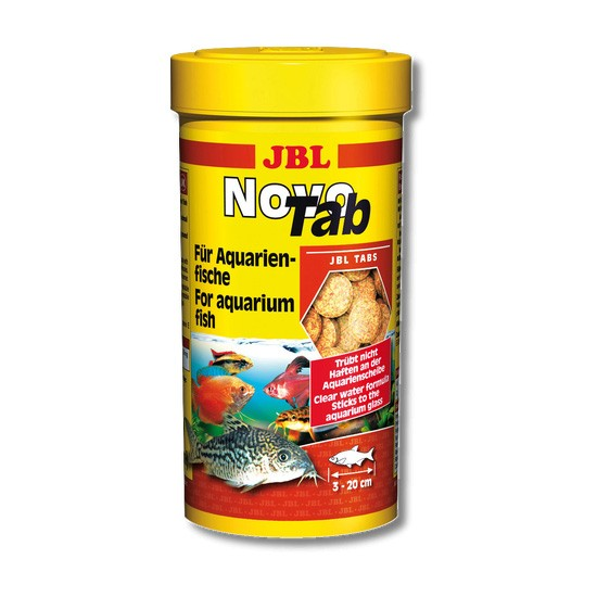 """מזון לדגים טבליות לשוכני קרקעית jbl נובו טאב 250 מ""""ל-0"""