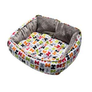 מיטה לכלב רוגז אופנתית מידה s צבע לבן עצמות-0