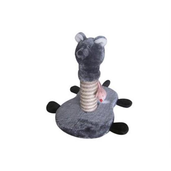 מתקן גירוד לחתולים דב אפור-0