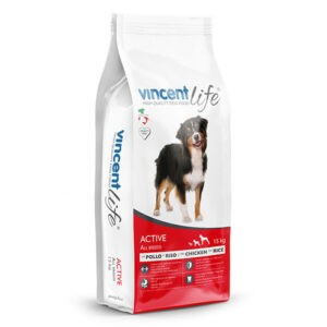 "מזון כלבים וינסנט לייף אקטיב 15 ק""ג-0"