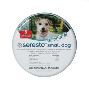 """קולר סרסטו לכלב עד 8 ק""""ג"""