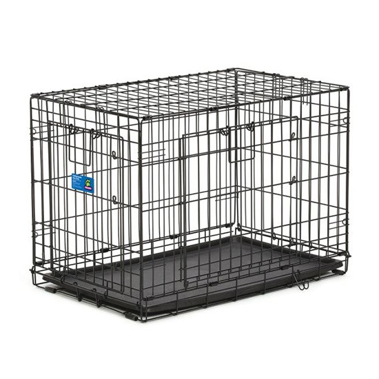 """כלוב אילוף לכלב באורך 76 ס""""מ שתי דלתות-0"""