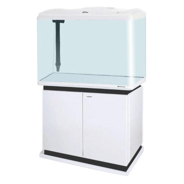 """אקווריום בויו 60 ס""""מ דגם ec-600 צבע לבן-6913"""