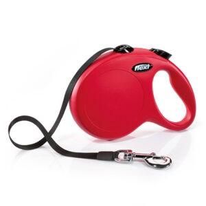 רצועה לכלב פלקסי קלאסיק L צבע אדום-0