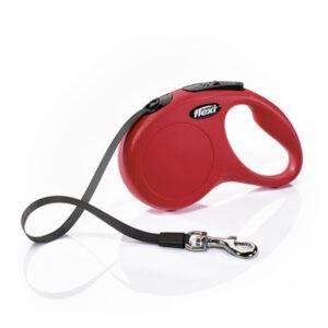 רצועה לכלב פלקסי קלאסיק S צבע אדום-0