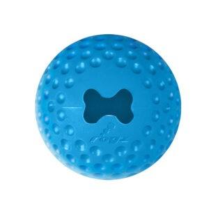 צעצוע לכלב רוגז כדור גומי לעיסה קטן צבע כחול-0