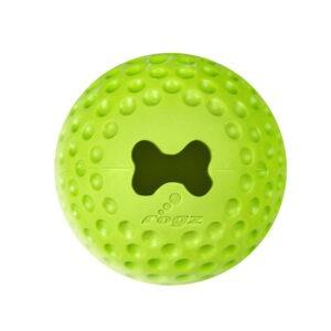 צעצוע לכלב רוגז כדור גומי לעיסה קטן צבע ירוק ליים-0