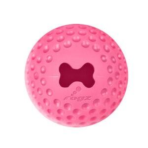 צעצוע לכלב רוגז כדור גומי לעיסה קטן צבע ורוד-0