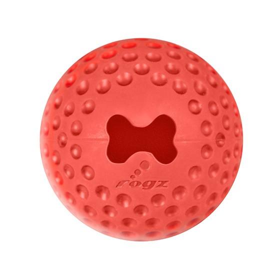 צעצוע לכלב רוגז כדור גומי לעיסה גדול צבע אדום-0