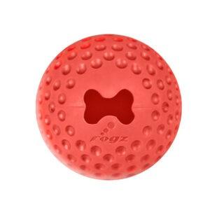 צעצוע לכלב רוגז כדור גומי לעיסה קטן צבע אדום-0