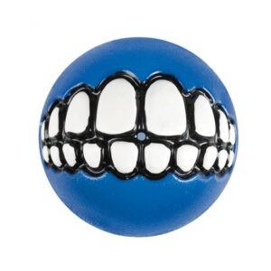 צעצוע לכלב רוגז כדור גומי חייכן קטן צבע כחול-0