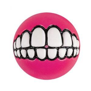 צעצוע לכלב רוגז כדור גומי חייכן בינוני צבע ורוד-0