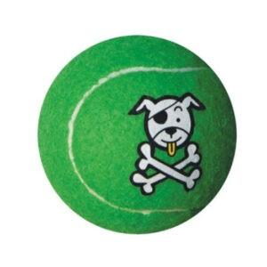 צעצוע לכלב רוגז כדור טניס גדול צבע ירוק ליים-0